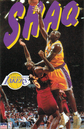 "Shaquille O'Neal ""Domination"" L.A. Lakers Action Poster - Starline 1997"