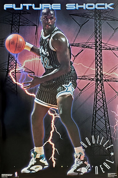 "Shaquille O'Neal ""Future Shock"" Orlando Magic NBA Basketball Poster - Costacos 1992"