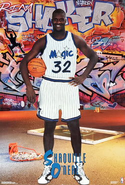 "Shaquille O'Neal ""Rim Shaker"" Orlando Magic Rookie-Year Poster - Costacos Brothers 1993"