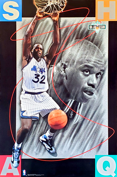 "Shaquille O'Neal ""NBA Jam"" Orlando Magic NBA Basketball Action Poster - Costacos 1993"