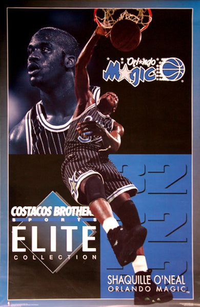 "Shaquille O'Neal ""Elite"" Orlando Magic NBA Action Poster - Costacos 1994"