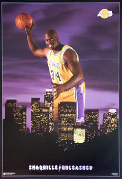 "Shaquille O'Neal ""Unleashed"" Los Angeles Lakers Poster - Costacos 1996"
