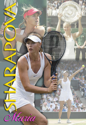 "Maria Sharapova ""Superstar Action"" Tennis Poster - TL Posters"