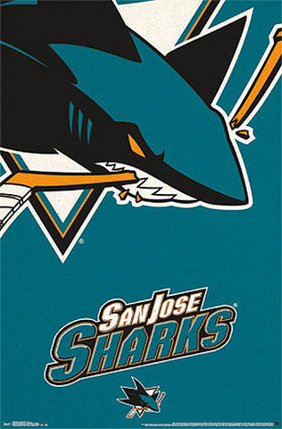 San Jose Sharks Official NHL Hockey Team Logo Poster - Trends International