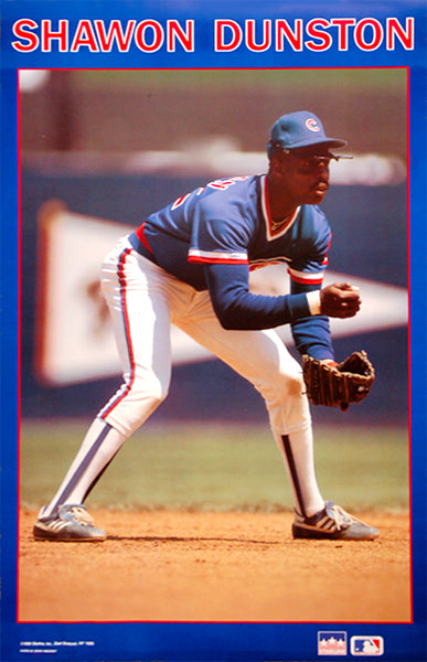 "Shawon Dunston ""Action"" Chicago Cubs Poster - Starline Inc. 1989"