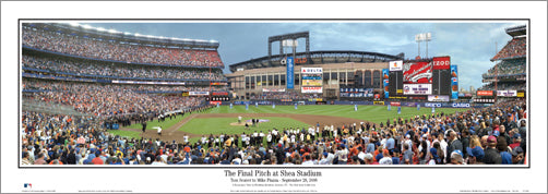 New York Mets Final Pitch at Shea Stadium (Sept. 28, 2008) Panoramic Poster Print - Everlasting Images Inc