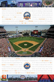 New York Mets Shea Stadium 1964-2008 Commemorative Poster - Costacos Sports