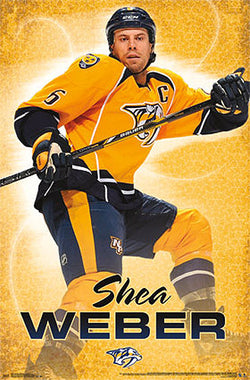 "Shea Weber ""Captain Pred"" Nashville Predators NHL Hockey Action Poster - Costacos 2014"