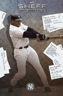 "Gary Sheffield ""The Sheff"" New York Yankees Poster - Costacos 2004"