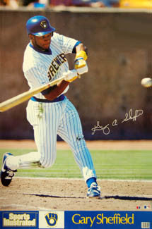 "Gary Sheffield ""SI Classic"" Milwaukee Brewers Poster - Marketcom 1990"