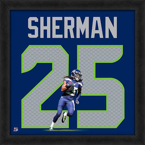 "Richard Sherman ""Number 25"" Seattle Seahawks FRAMED 20x20 UNIFRAME PRINT - Photofile"