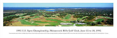 Shinnecock Hills Golf Club Panoramic Poster Print - Blakeway Worldwide