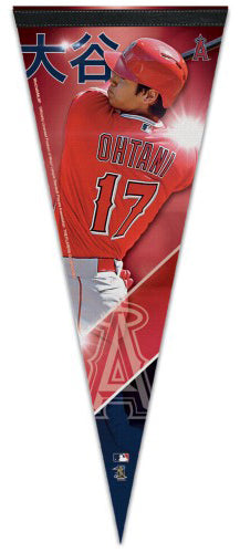 "Shohei Ohtani ""Slugger"" Los Angeles Angels Premium Felt Collector's Pennant - Wincraft 2018"