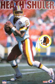 "Heath Shuler ""Action"" Washington Redskins Poster - Starline 1994"