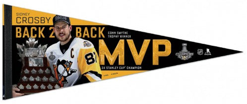 Sidney Crosby 2017 Stanley Cup Playoffs MVP Pittsburgh Penguins Premium Felt Collector's Pennant - Wincraft