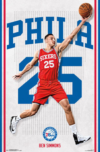 "Ben Simmons ""Sixer Star"" Philadelphia 76ers Official NBA Poster - Trends 2016"