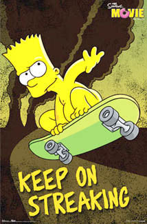 "Bart Simpson Skateboarding ""Keep On Streaking"" Poster - Trends International 2007"