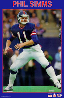 "Phil Simms ""Action"" New York Giants NFL Action Poster - Starline 1987"