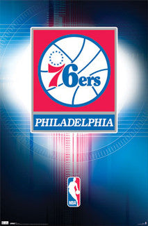 Philadelphia 76ers Official Logo Poster - Costacos Sports