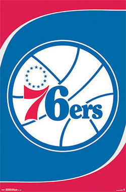 Philadelphia 76ers Official NBA Basketball Team Logo Poster - Costacos Sports