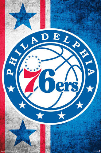 Philadelphia 76ers Official NBA Basketball Team Logo Poster - Trends International