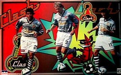 San Jose Clash MLS Soccer Superstars Poster (Cerritos, Doyle, Wynalda) - Starline 1997