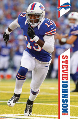 "Stevie Johnson ""Going Deep"" Buffalo Bills NFL Action Poster - Costacos 2012"