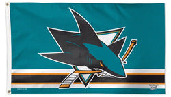 San Jose Sharks Official NHL Hockey 3'x5' Deluxe-Edition Team Banner Flag - Wincraft