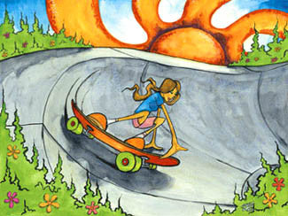 """Bank Roll"" Skateboarding - Surfing Artists International"