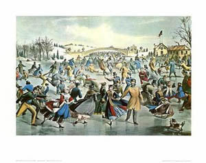 """Central Park, Winter: The Skating Pond"" (Currier & Ives)"