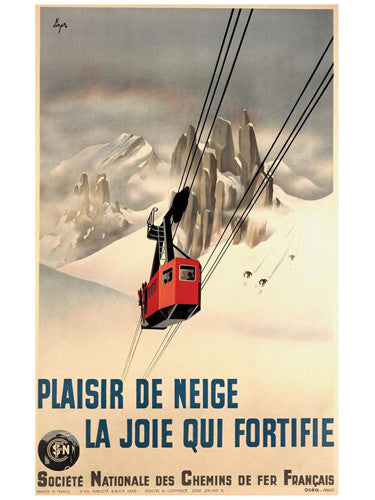 "Ski France ""The Joy that Fortifies"" c.1938 Vintage Poster Giclee Reprint - AAC Inc."