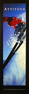 "Skiing ""Attitude"" Motivational Poster - Front Line (12x36)"