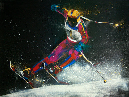 "Skiing ""Downhill Racer"" by Terry Rose Art Poster Print - McGaw Graphics"