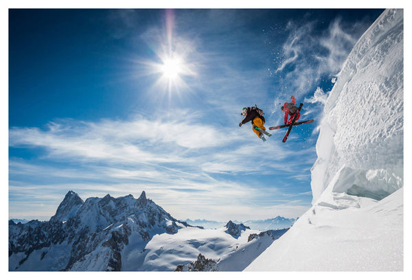 "Skiing Action ""Jumping Legends"" High Mountain Ski Wonderland Premium Poster Print - Eurographics Inc."