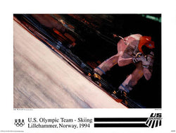 US Olympic SKIING Team - Lillehammer 1994 Olympics - Official Poster - Fine Art Ltd.