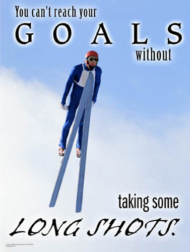 "Ski Jumping ""Long Shot"" Motivational Inspirational Poster - Jaguar Inc."