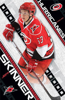 "Jeff Skinner ""Sniper"" Carolina Hurricanes Poster - Costacos Sports"