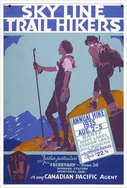 "Banff, Alberta ""Sky Line Trail Hikers"" 1935 Vintage Poster Reprint - Eurographics Inc."