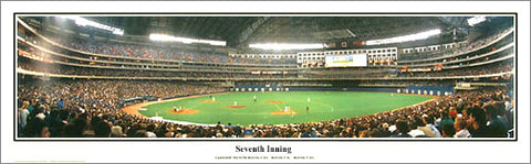 "Skydome Toronto ""Seventh Inning"" Toronto Blue Jays Panoramic Poster (1992) - Everlasting Images"