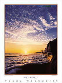 "Surfing ""Sky Spirit"" (Pacific Coast) Poster Print - Creation Captured"