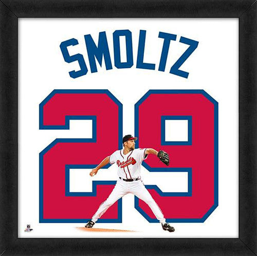 "John Smoltz ""Number 29"" Atlanta Braves MLB FRAMED 20x20 UNIFRAME PRINT - Photofile"