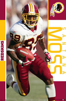 "Santana Moss ""Action"" Washington Redskins NFL Poster - Costacos 2006"