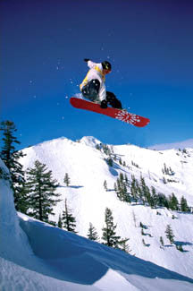 "Snowboarding ""Flying High"" Sports Action Poster - Pyramid Posters"