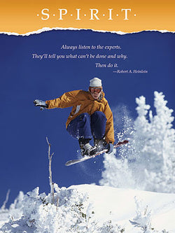 "Snowboarding ""Spirit"" Motivational Inspirational Action Poster - Jaguar Inc."