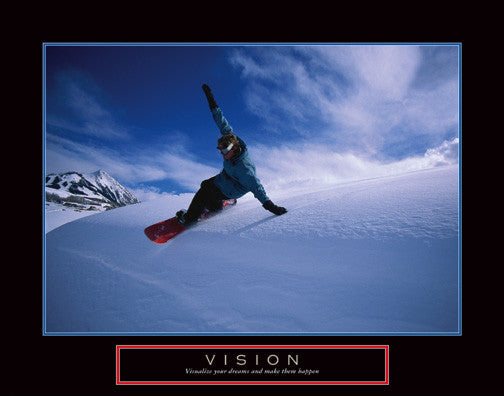 "Snowboarding ""Vision"" Motivational Poster - Front Line"