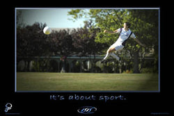 "Womens Soccer ""It's About Sport"" Inspirational Poster - ISIS Inspiration"