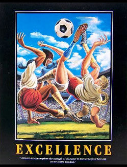 "Women's Soccer ""Excellence"" Motivational Print by Ernie Barnes"