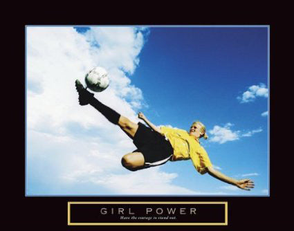 "Womens Soccer ""Girl Power"" Motivational Poster - Front Line"