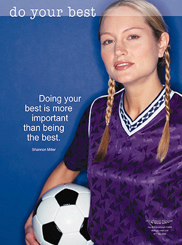 "Girls Soccer ""Do Your Best"" Motivational Poster - Jaguar Inc."