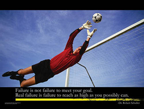"Soccer ""No Failure"" Motivational Inspirational Poster - Jaguar Inc."